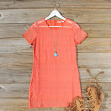 Lacey Tee Shirt Dress in Orange: Alternate View #1