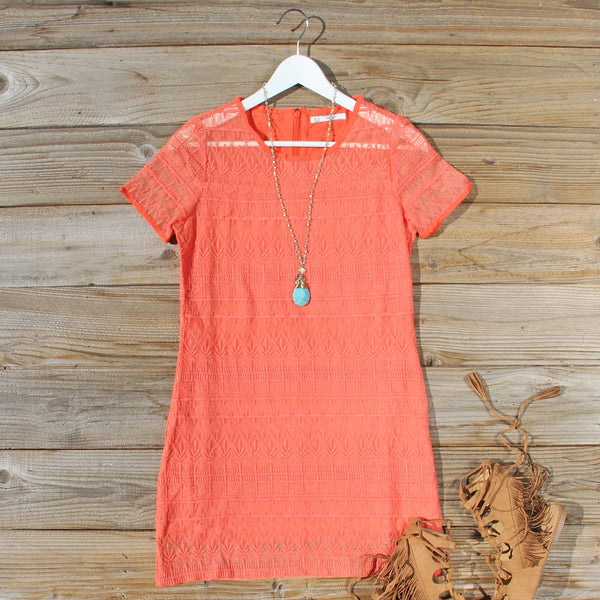 Lacey Tee Shirt Dress in Orange: Featured Product Image