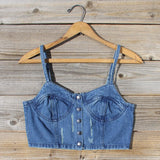 Laguna Denim Bustier: Alternate View #2