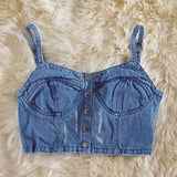 Laguna Denim Bustier: Alternate View #1