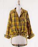 Laid-Back Plaid Top in Mustard: Alternate View #2