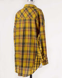 Laid-Back Plaid Top in Mustard: Alternate View #6