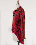 Laid-Back Plaid Top in Red: Alternate View #3