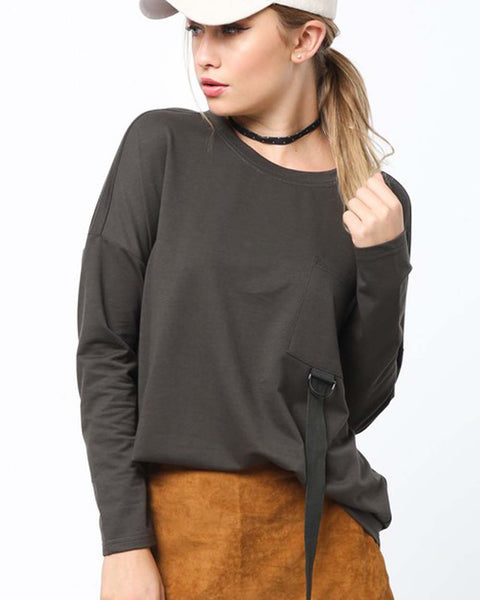 Easy Tie Tee in Olive: Featured Product Image