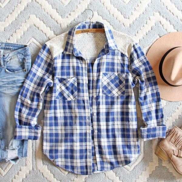 Lake Cabin Plaid Top: Featured Product Image