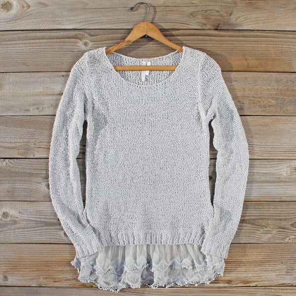 Lake Chelan Lace Sweater in Fog: Featured Product Image