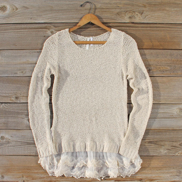 Lake Chelan Lace Sweater in Haze: Featured Product Image