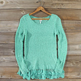 Lake Chelan Lace Sweater in Mist: Alternate View #1