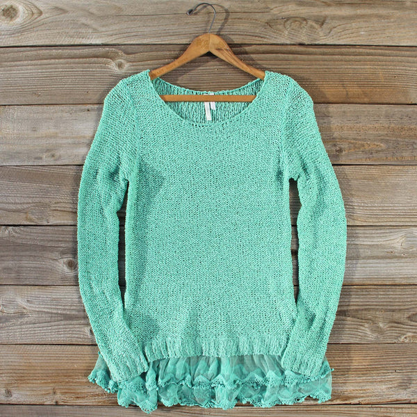 Lake Chelan Lace Sweater in Mist: Featured Product Image