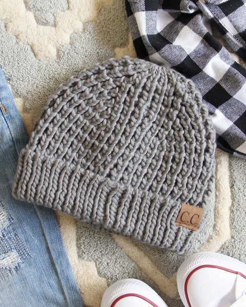 The Lake Easton Beanie in Gray: Featured Product Image