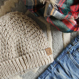 The Lake Easton Beanie in Sand: Alternate View #2