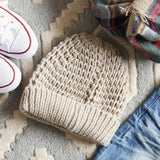 The Lake Easton Beanie in Sand: Alternate View #3