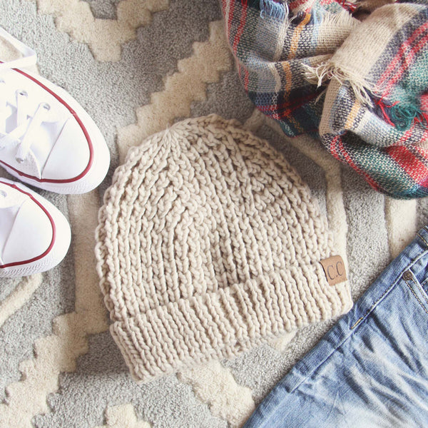 The Lake Easton Beanie in Sand: Featured Product Image