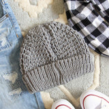 The Lake Easton Beanie in Gray: Alternate View #3