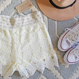 Summer Aspen Lace Shorts: Alternate View #2