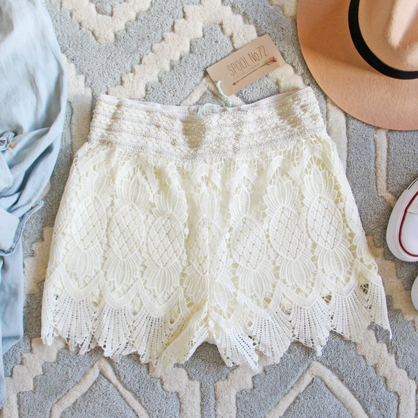 Summer Aspen Lace Shorts: Featured Product Image