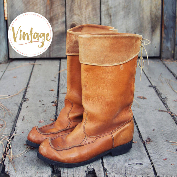 Larkspur Vintage Moccasin Boots: Featured Product Image