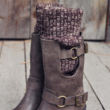 Laurel & Arrow Sweater Boots: Alternate View #2