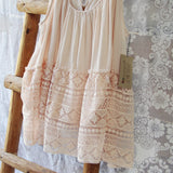 Layered Lace Tank in Dusty Pink: Alternate View #2