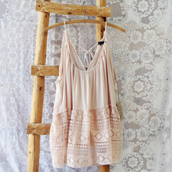 Layered Lace Tank in Dusty Pink: Featured Product Image