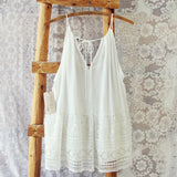 Layered Lace Tank in White: Alternate View #3