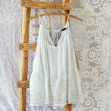 Layered Lace Tank in White: Alternate View #1