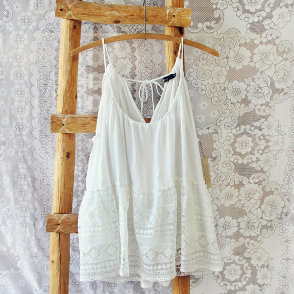 Layered Lace Tank in White: Featured Product Image