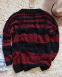 Layla Cozy Stripe Sweater in Wine: Alternate View #2