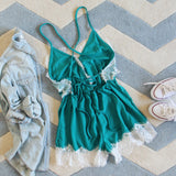 Le Fleur Lace Romper in Azure: Alternate View #4