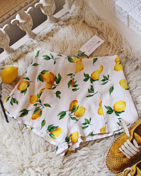 Lemongrass Shorts: Featured Product Image