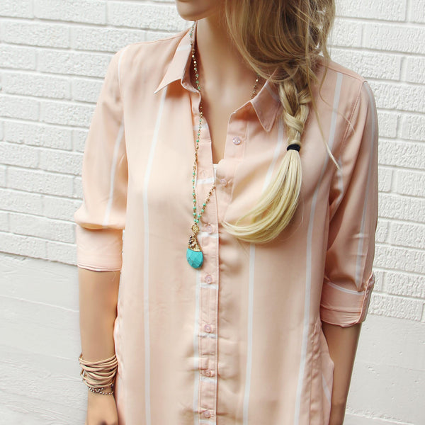 Lennon & Rose Shirt Dress: Featured Product Image