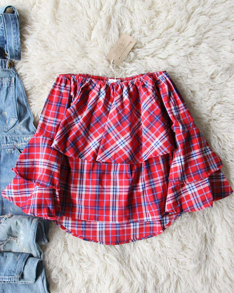 Leo Plaid Top: Featured Product Image