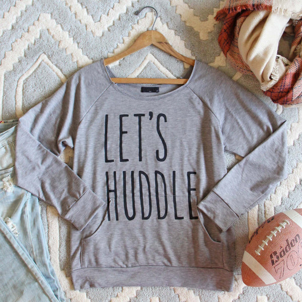 Let's Huddle Cozy Sweatshirt: Featured Product Image