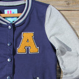 The Letterman's Sweatshirt in Navy: Alternate View #2