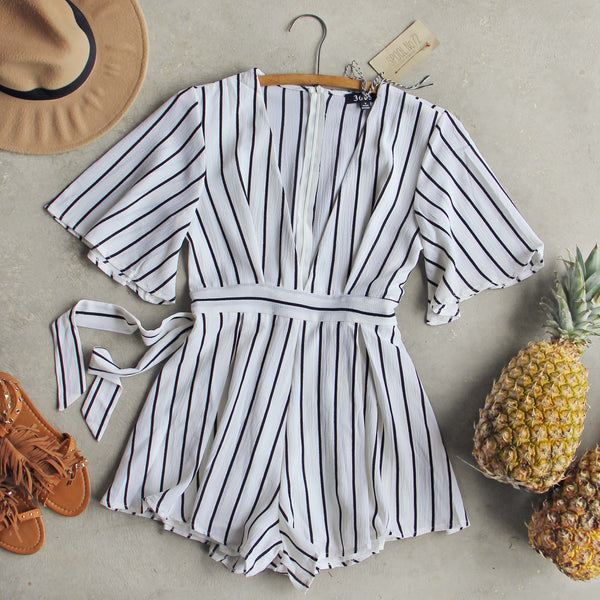 Lexi Stripe Romper: Featured Product Image