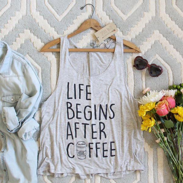 Life Begins After Coffee Tank: Featured Product Image