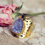 Lilac & Druzy Ring: Alternate View #1