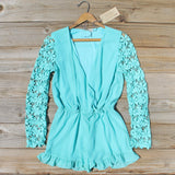 Lilac Valley Romper in Mint: Alternate View #1