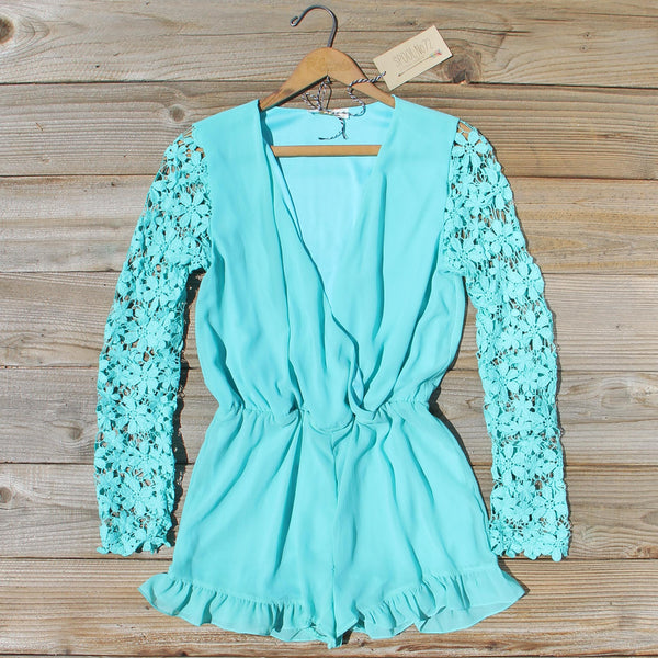 Lilac Valley Romper in Mint: Featured Product Image