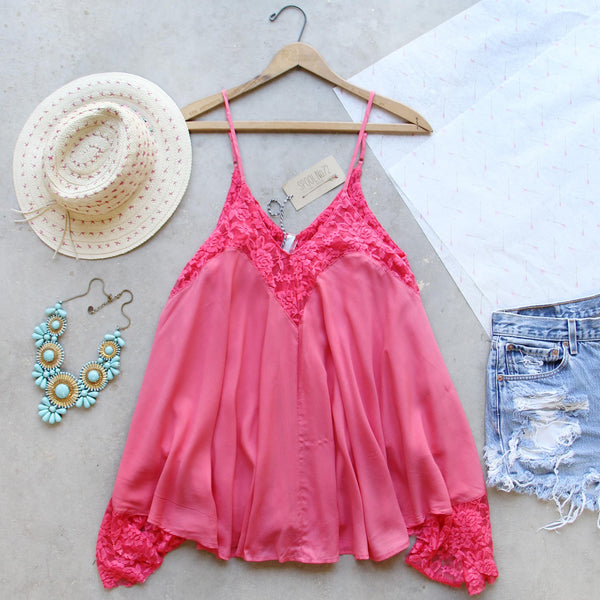 The Linden Layering Tank in Coral: Featured Product Image