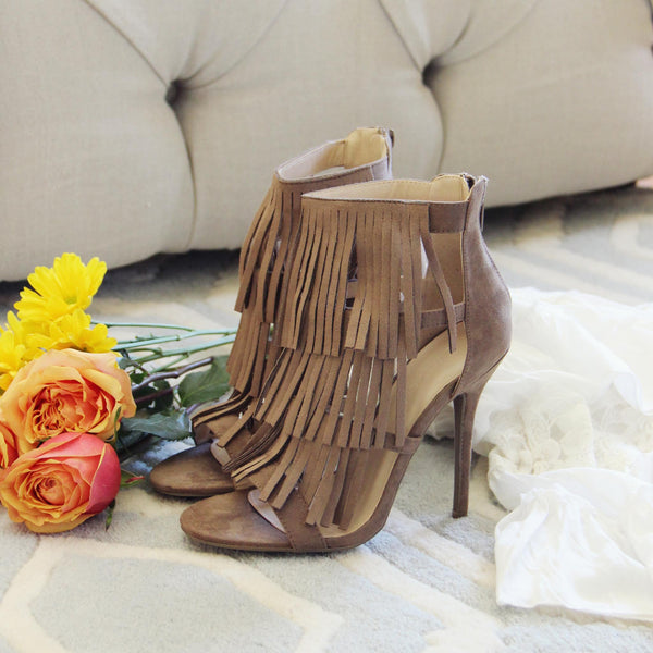 Logan Fringe Heels: Featured Product Image
