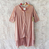 Lola T-Shirt Tunic Dress in Rose: Alternate View #1