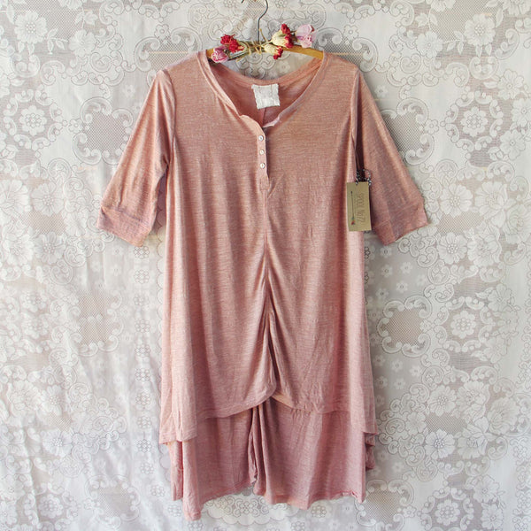 Lola T-Shirt Tunic Dress in Rose: Featured Product Image