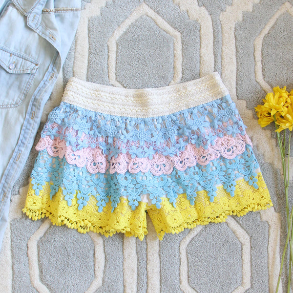 Love Me Not Lace Shorts: Featured Product Image