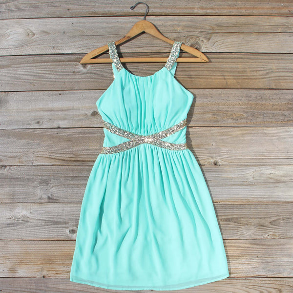 Lucky Star Party Dress in Mint: Featured Product Image