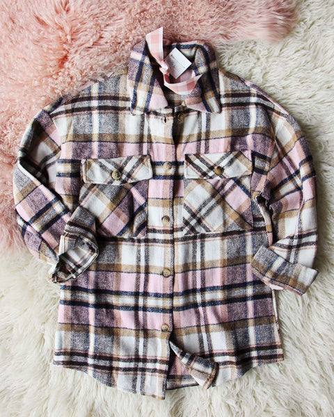 Lumber Jill Jacket Shirt in Pink: Featured Product Image
