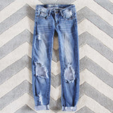 The Lundi Distressed Jean: Alternate View #1