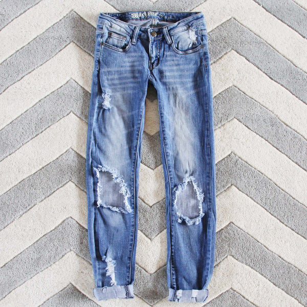 The Lundi Distressed Jean: Featured Product Image