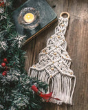 Nordic Macramé Christmas Tree: Alternate View #1