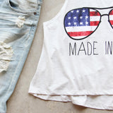 Made in the USA Tank: Alternate View #3